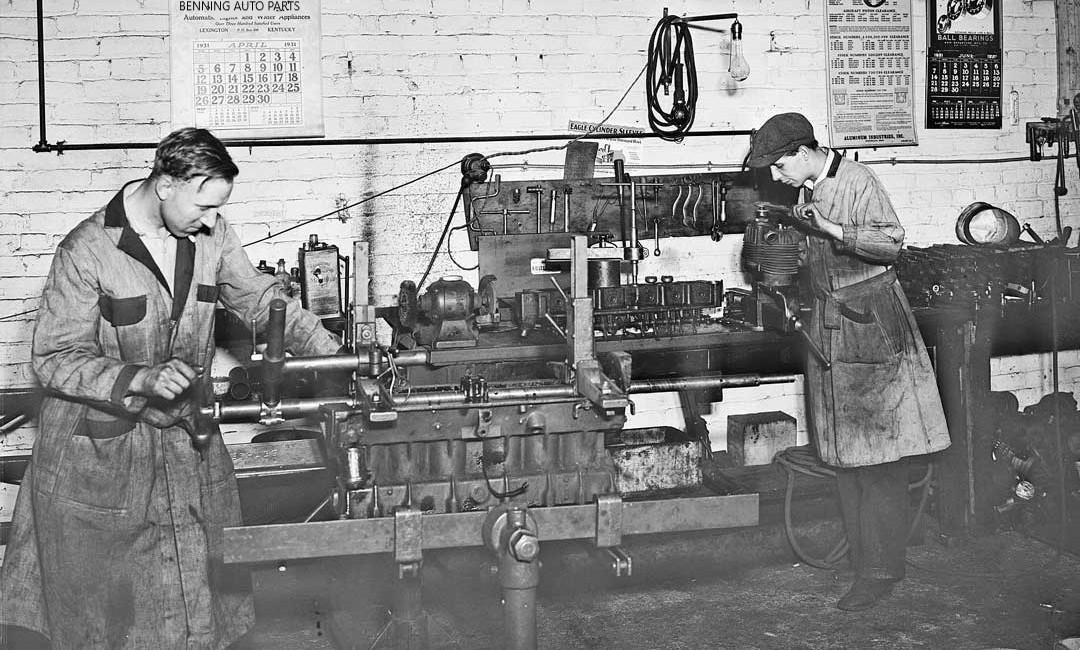 Benning Auto Machine Shop Line Boring In 1931 1080x650